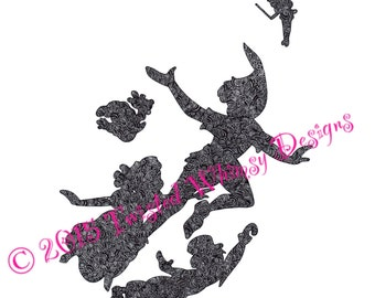 Zentangle Peter Pan print