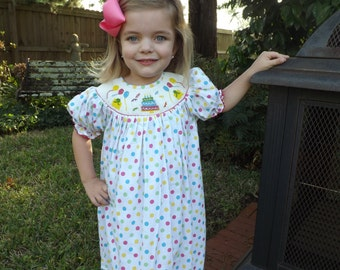 Birthday Smocked Dress