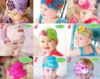 Baby Headband Flower Feather Girl Elastic Hair Band Stretchy Photo Prop Free Postage
