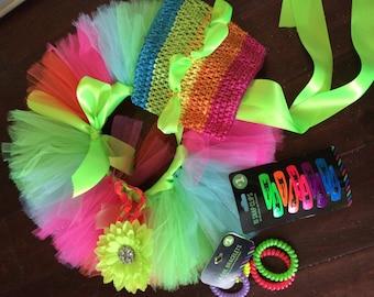 Rainbow Baby Tutu Set
