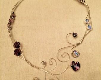 Silver short princess Necklace