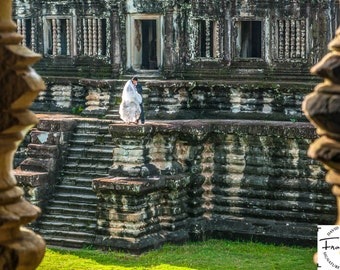 "Fine Art Photograph, ""Angkor Vows""  (14.25"" x 18.5"" Digital Print on 20"" x 24"" Board)"