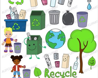 Clipart Earth Day.Love Our Planet Clip Art. Digital Clipart. Creative Clips.
