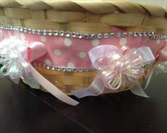 Baby  shower  basket  (pink )