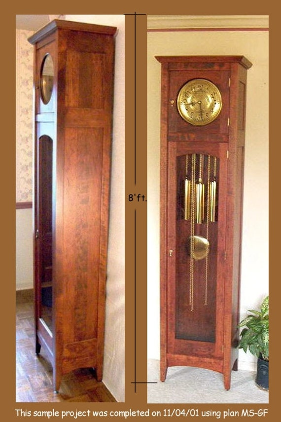 Craftsman mission style grandfather clock plan - Grandfather clock blueprints ...