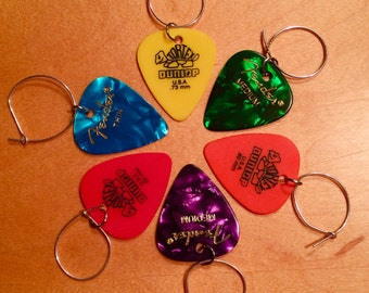 guitar pick wine charms.