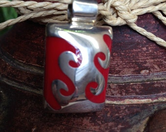 Sterling Silver Red Pendant