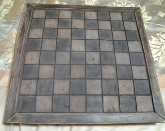 Antiqued Leather Chess Board