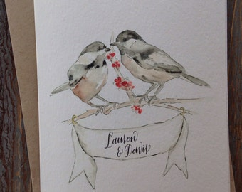 Personalized Chickadee Greeting Card