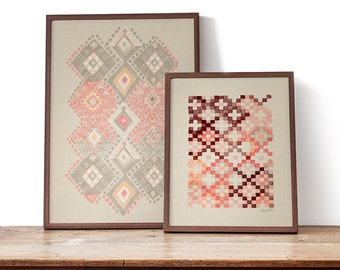 Tapestry in Copper Pink art print
