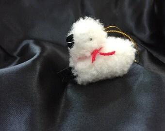 Little Lamb Christmas Ornament