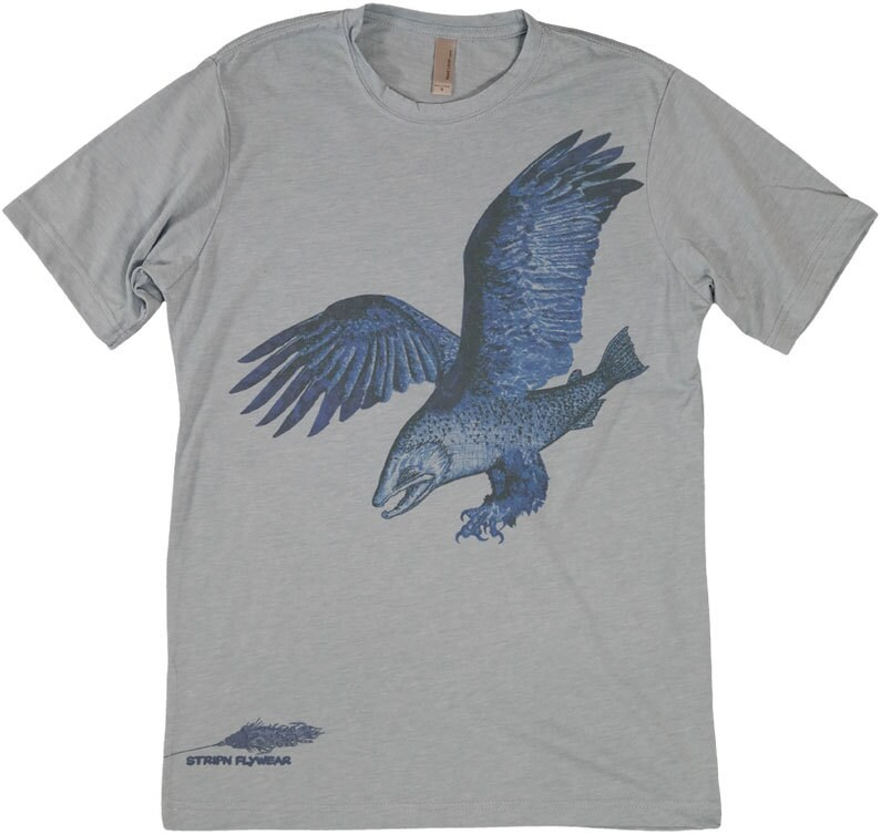 Trout eagle fly fishing t shirt for Fly fishing shirt