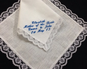 Ladies Personalised Irish Linen Handkerchief