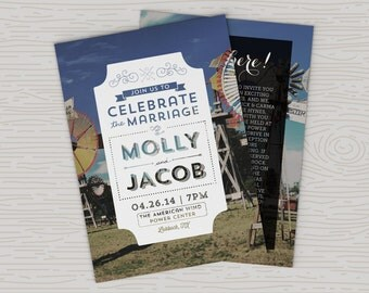 Rustic Windmill Wedding Invitations