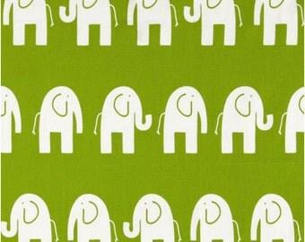 1/2 Yard Green Elephant Fabric - Premier Prints Green and White Elephant Fabric HALF YARD
