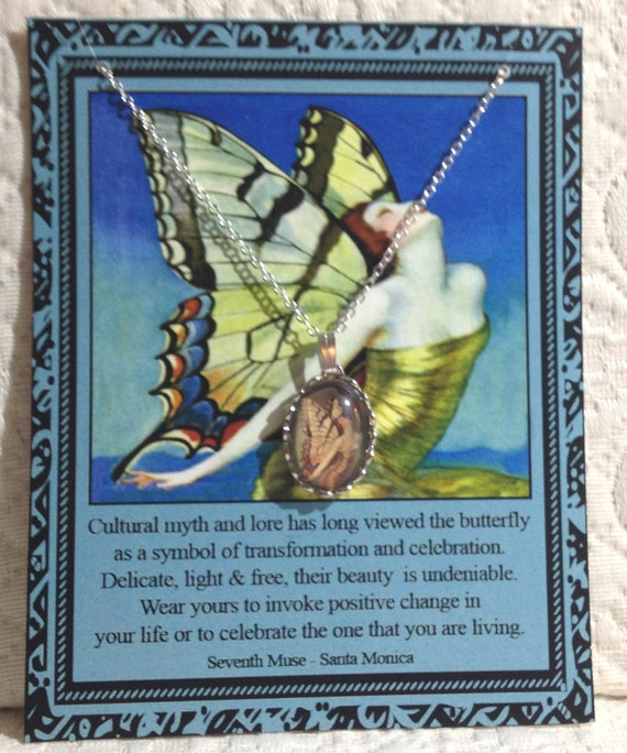 Butterfly Fairy Charm Necklace on Story Card