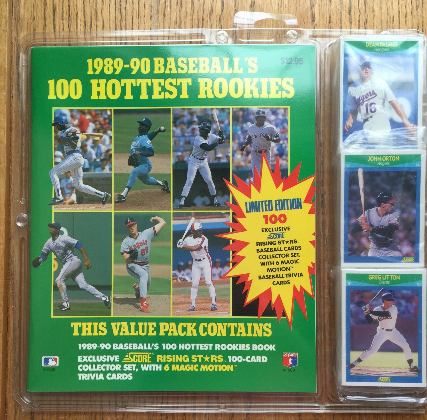 1989-90 Baseball's 100 Hottest Rookies Value Pack Score