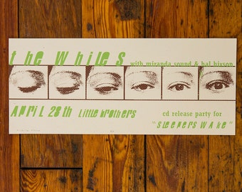 The Whiles Screen Printed Poster