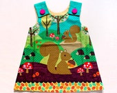 Little Girl Pinafore Dress - The Ethel Dress (The Magical Woodlands)