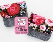 Pleated Pouches PDF Sewing Pattern | Pleated Pouch Pattern | Card Wallet Pattern | Gadge Pouch Pattern