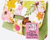Strap Clutch PDF Sewing Pattern | Clutch Purse Handbag Sewing Pattern PDF | Bag PDF Pattern