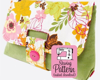 Strap Clutch PDF Sewing Pattern | Clutch Purse Handbag Sewing Pattern PDF | Bag PDF Pattern