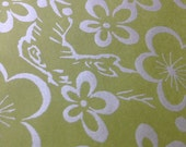 24 sheets silver green floral paper