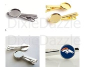 10 pieces 20 mm tie slides, tie clip supplies, choose gold, silver or gunmetal. Holds 20 mm cabochon