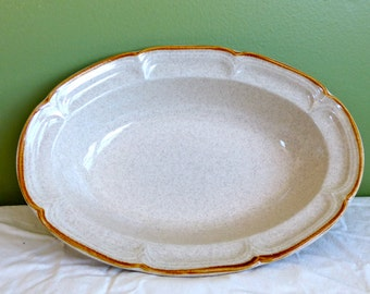 Vintage Stoneware Oval Serving Dish-The Classics by Hearthside