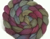 Handpainted Heathered BFL Roving - 4 oz. ENCHANTED - Spinning Fiber