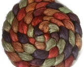 Handpainted Yak/Silk Roving - 4 oz. DRAGON SCALES - Spinning Fiber