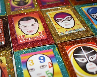 Mexican Wedding Favors Luchador Wrestler Lucha Libre Matchbox - Set of 30 - Birthday Gifts