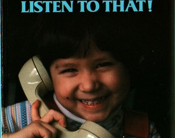 Listen to That a Golden Book Board Book - 1980 - Vintage Kids Book