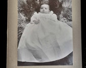 Cabinet photo, infant. Vintage infant photo.