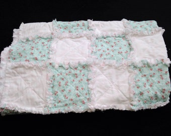 Sweet Baby Toddler Ragged Quilt Blanket