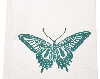 NEW ORGANIC swallowtail butterfly tea towel