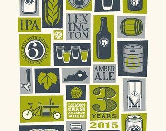 West Sixth Brewery - 3rd Birthday Celebration Art Print
