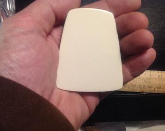 """Scrimshaw Display Size Corian Blank - 2-3/4+"""" x 2-1/4+"""" x 1/4+"""" (70mmx56mmx5.0mm) Trapezoid"""