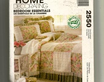 McCall's Bedroom Essentials Pattern 2550