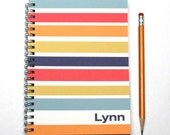 Yearly planner, 2016 2017 weekly planner, customize name, personalized planner, engagement calendar, contemporary style, SKU: pli navy pink