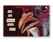 SALE! Dipping Sauce Magnet - Bird - Animal - Nature - Chicken - Rooster - Nuggets - Humor - Stocking Stuffer - Gift