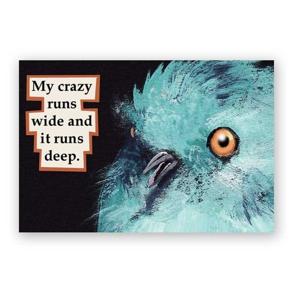 Crazy Magnet - Bird - Humor - Gift - Stocking Stuffer - Mincing Mockingbird