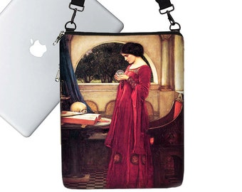 13 inch Laptop Bag for Women Waterhouse Crystal Ball Skulls Steampunk Macbook Air 13 Sleeve, 13 inch MacBook Case Pro / Retina red MTO