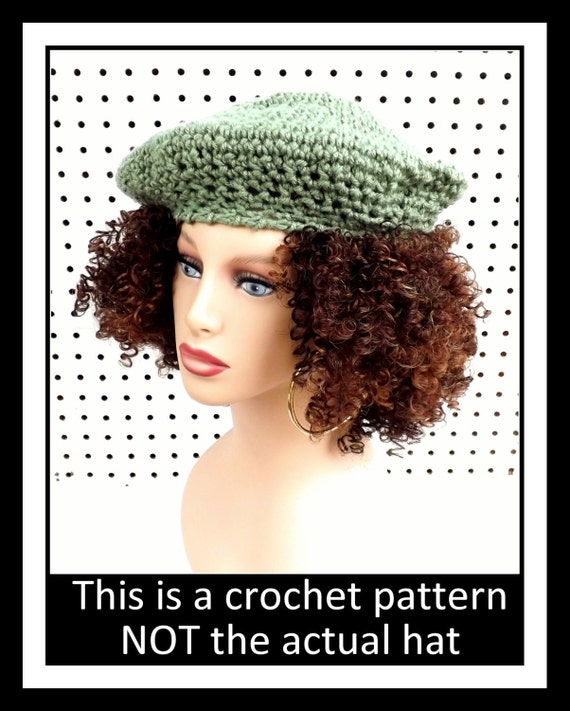 Easy Crochet Hat Tutorial, Crochet Tutorial, Easy Crochet Pattern, Crochet Hat Pattern, FRENCH ARTIST French Beret Hat Crochet Beret Pattern