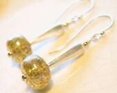 Sterling Silver gold fill artisan glass handmade earrings