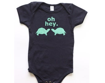 Turtle Animal Friends Baby One-Piece Bodysuit