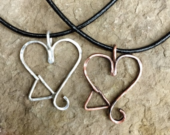 Adoption Triad Sterling Silver or Copper Necklace