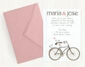 Love Birds on Bike Wedding Invitation  Template  Wedding Invitation Printable  Wedding Invitation Suite  Informal Wedding  No 10