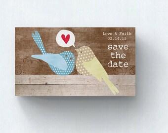 Save the Date Cards  Wedding Invitation  Wedding Card  Modern Wedding  Love Birds Save the Date  SD4