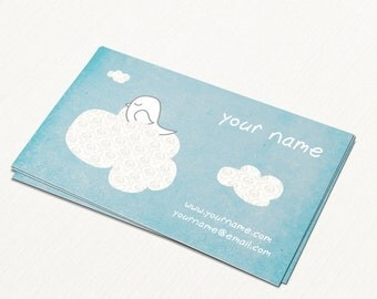 Business Cards  Custom Business Cards  Personalized Business Cards  Business Card Template  Modern Business Cards  Bird Business Card B4